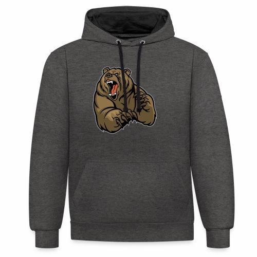 méchant grizzli - Sweat-shirt contraste