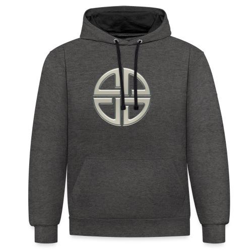 Schildknoten, Keltischer Knoten, Thor Symbol - Kontrast-Hoodie