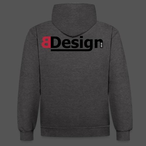 bdesign_logo - Kontrast-Hoodie