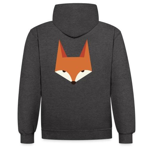 Fox Kopf RGB - Kontrast-Hoodie