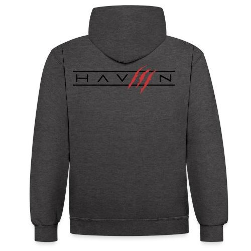 Logo Zwart - Contrast hoodie