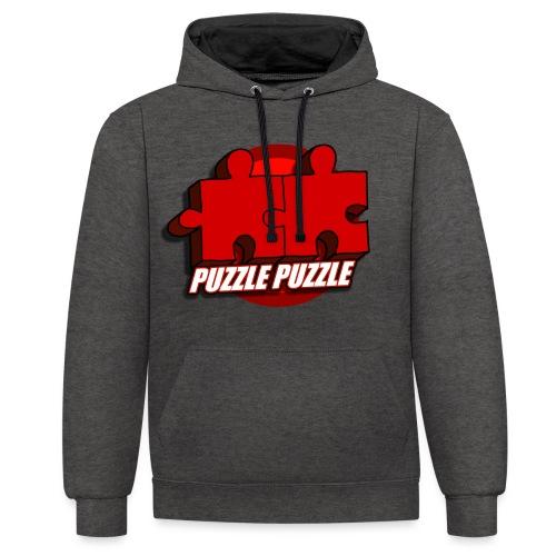 PuzzlePuzzle - Felpa con cappuccio bicromatica
