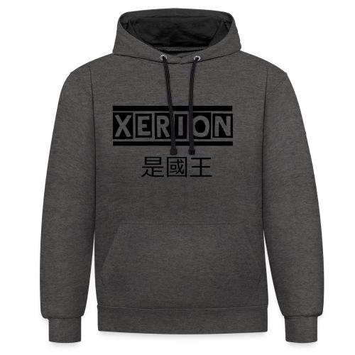 XERION [BLACK] - Kontrast-Hoodie