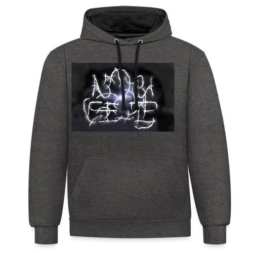 Fake Metal Band - Felpa con cappuccio bicromatica