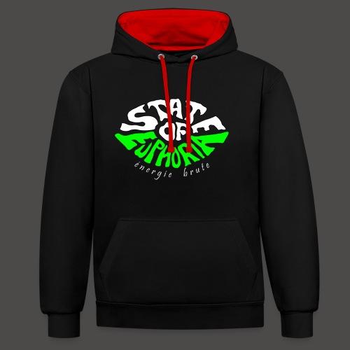 SOE logo - Contrast Colour Hoodie