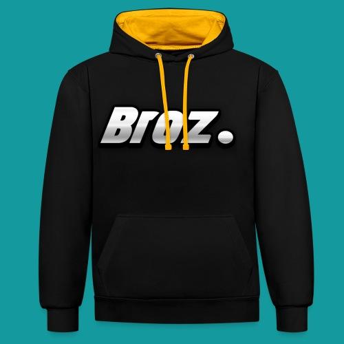 Broz. - Contrast hoodie