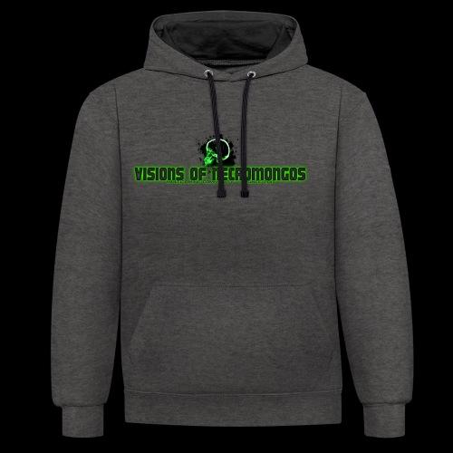 Necromongo Logo ONE - Kontrast-Hoodie