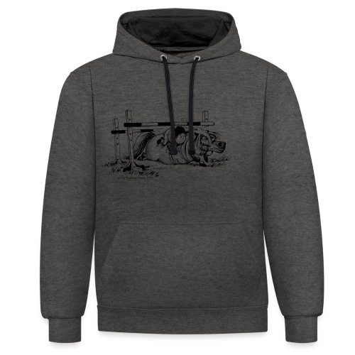PonyFall Thelwell Cartoon - Contrast Colour Hoodie