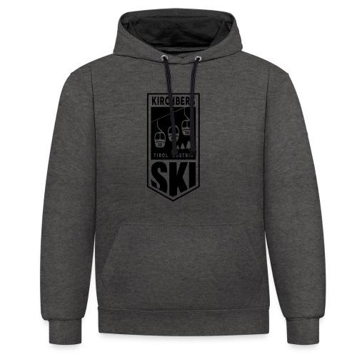 Embleem SKI Kirchberg - Contrast hoodie