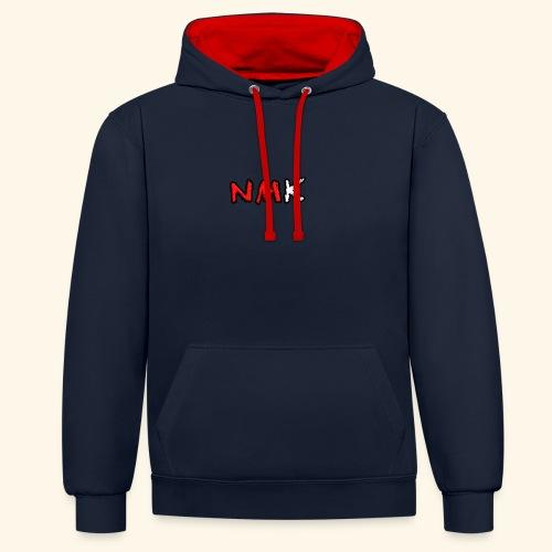 NMK - Felpa con cappuccio bicromatica