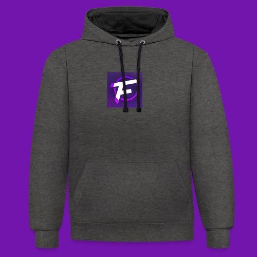 Flux Clan Logo - Contrast Colour Hoodie