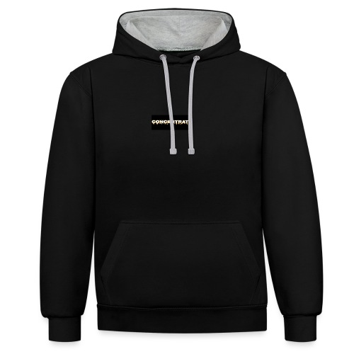 Concentrate on black - Contrast Colour Hoodie