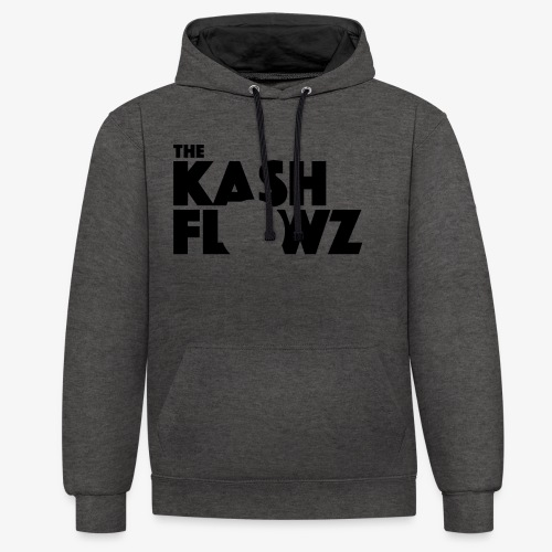 The Kash Flowz Official Black - Sweat-shirt contraste