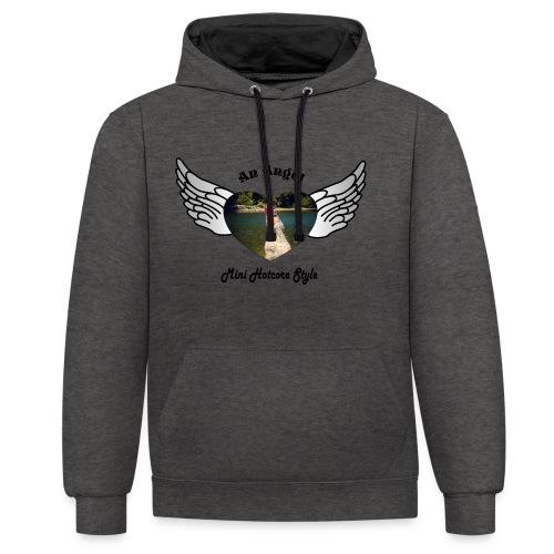 An Angel bunt - Kontrast-Hoodie