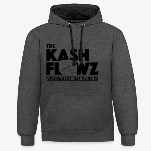 The Kash Flowz Official Web Site Black - Sweat-shirt contraste