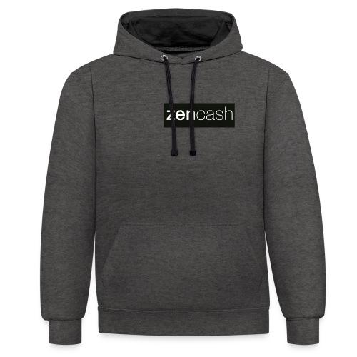 ZenCash CMYK_Horiz - Whi - Contrast Colour Hoodie