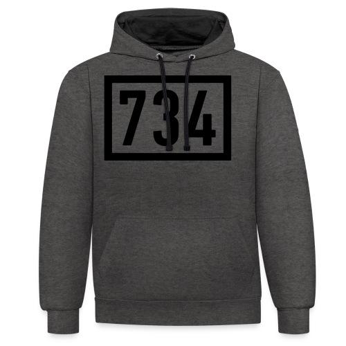 734 Logo BIG - Kontrast-Hoodie