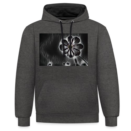 blackflower - Contrast Colour Hoodie