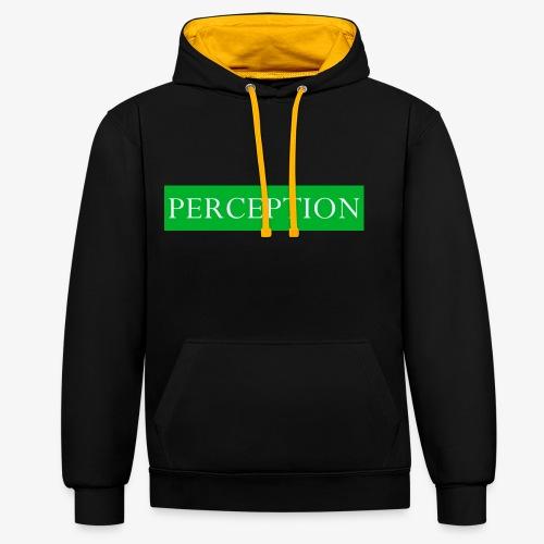 PERCEPTION CLOTHES VERT ET BLANC - Sweat-shirt contraste