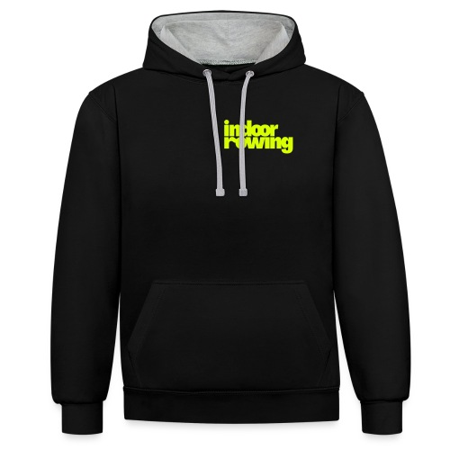 indoor rowing - Contrast Colour Hoodie