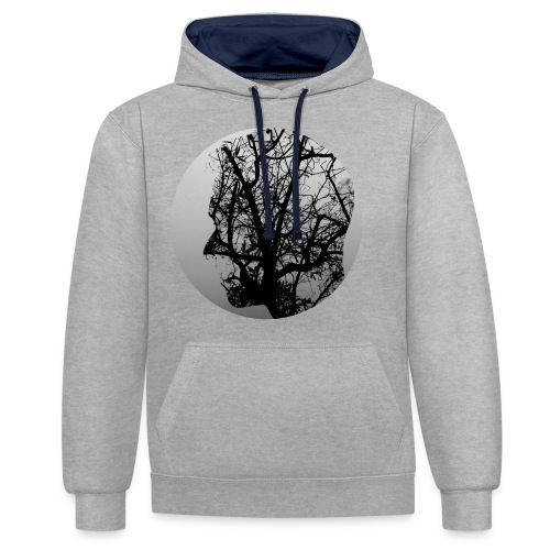 Think of nature - Contrast Colour Hoodie