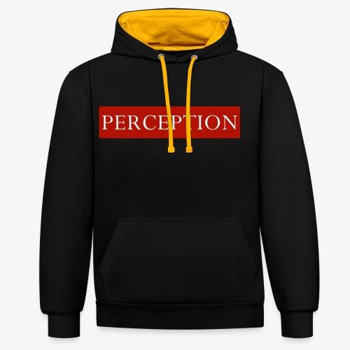 PERCEPTION CLOTHES ROUGE ET BLANC - Sweat-shirt contraste