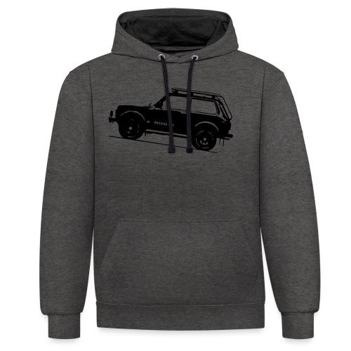 Lada Niva 2121 Russin 4x4 - Kontrast-Hoodie