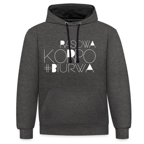 Rasowa Korpo Biurwa BLACK - Bluza z kapturem z kontrastowymi elementami