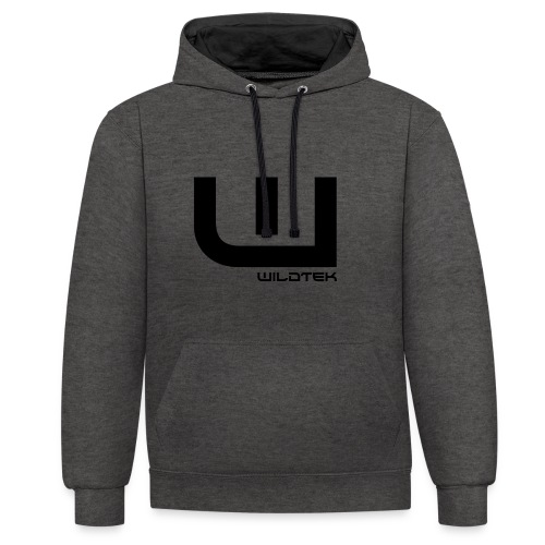 Wildtek Logo Black - Contrast Colour Hoodie