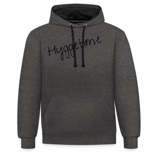 HYGGETIME - Kontrast-Hoodie