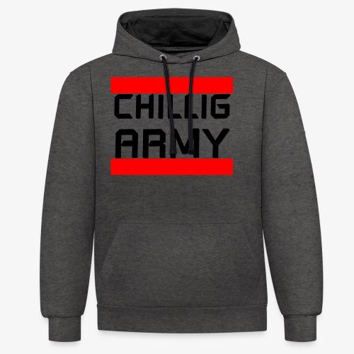 Chillig Army - Kontrast-Hoodie