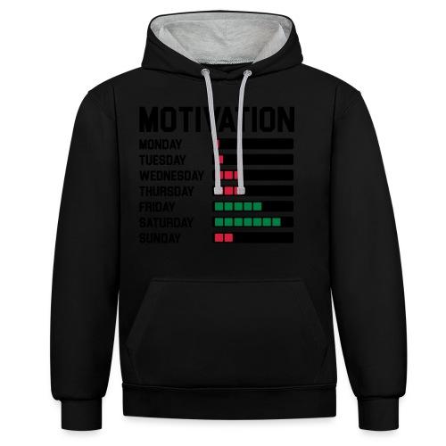 Wochen Motivation - Kontrast-Hoodie