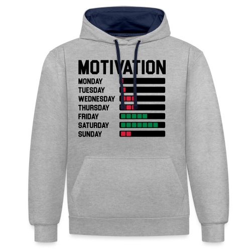 Wochen Motivation - Kontrast-Hoodie