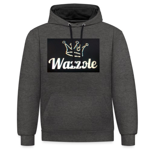 Wazzole crown range - Contrast Colour Hoodie