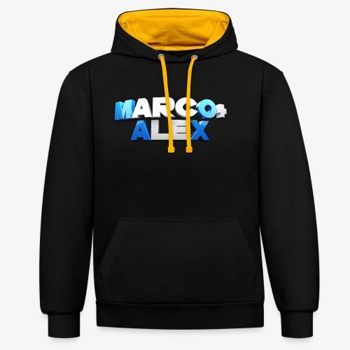Logo Marco+Alex - Felpa con cappuccio bicromatica