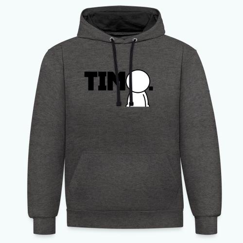 Design met ventje - Contrast hoodie