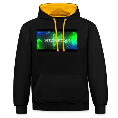 VizionzClan_Real - Kontrast-Hoodie