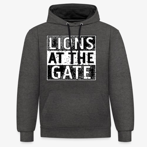LIONS AT THE GATE BAND LOGO - Contrast hoodie