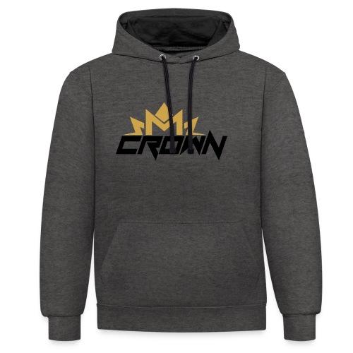 crown neu - Kontrast-Hoodie