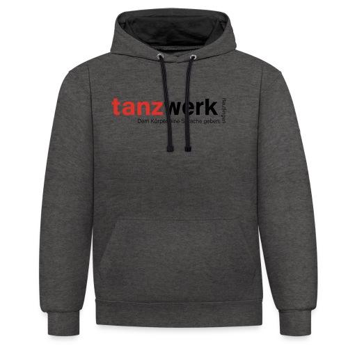 Tanzwerk - Premium Edition schwarz - Kontrast-Hoodie