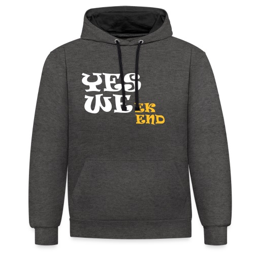 YES WEek end - Contrast Colour Hoodie