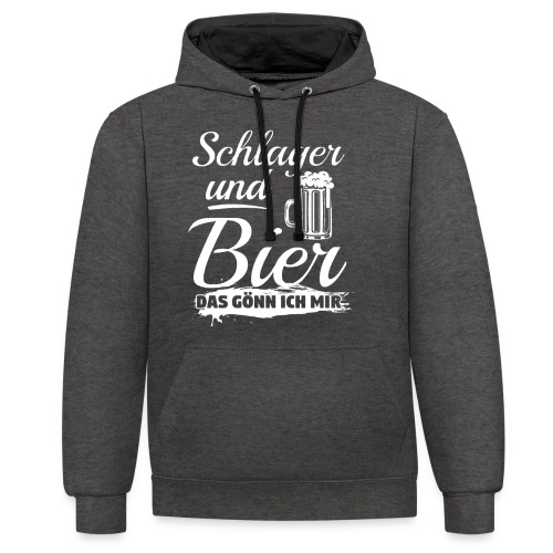Schlager und Bier, das gönn ich mir! Funshirt - Kontrast-Hoodie