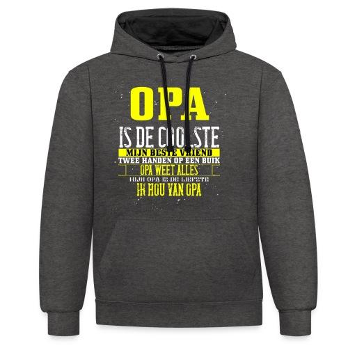 opa is de coolste - Contrast hoodie
