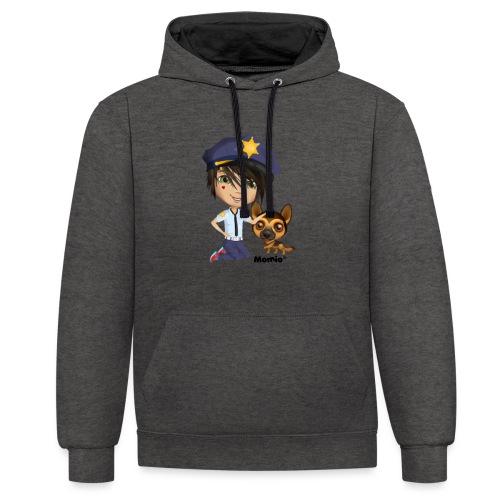 Jack en hond - door Momio Designer Cat9999 - Contrast hoodie