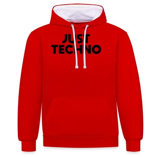 Just Techno - Kontrast-Hoodie