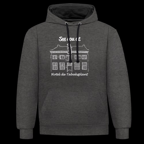 See you at Hotel de Tabaksplant WIT - Contrast hoodie