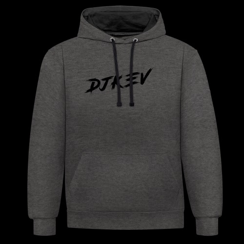 DJKEV Logo black - Sweat-shirt contraste
