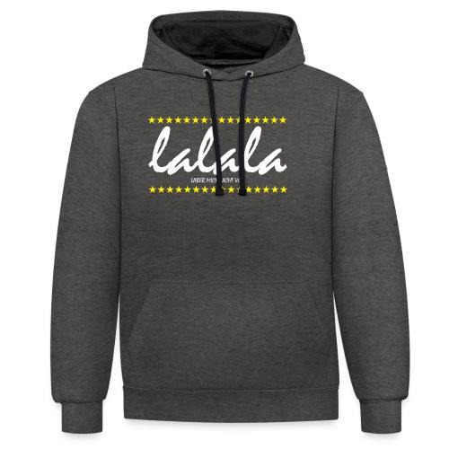 Lalala - Kontrast-Hoodie