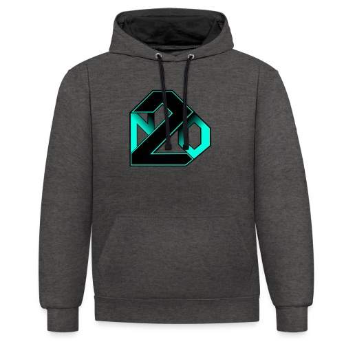 N2O turquoise - Sweat-shirt contraste
