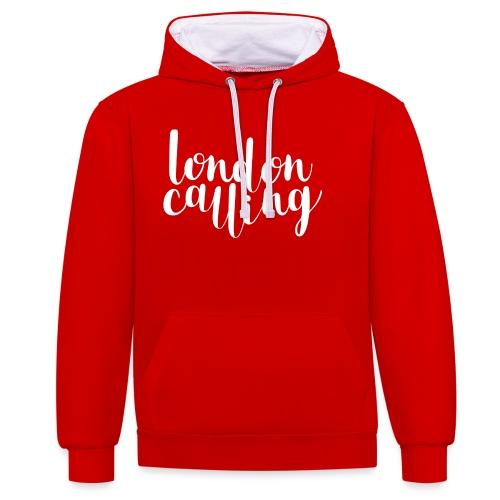 London Calling - Kontrast-Hoodie